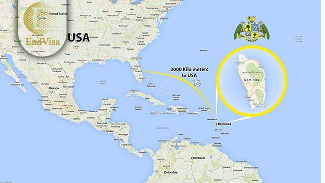 نقشه کشور دومینیکا